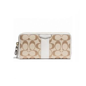 COACH SIGNATURE ACCORDION ZIP WALLET #F51710